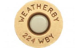 Weatherby BRASS224 Unprimed Brass 224 Weatherby Magnum Lightweight 20 Per Box
