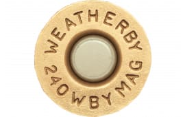 Weatherby BRASS240 Unprimed Brass 240 Weatherby Magnum Lightweight 20 Per Box