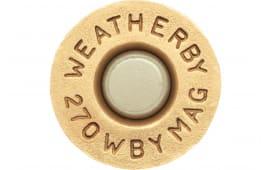 Weatherby BRASS270 Unprimed Brass 270 Weatherby Magnum Lightweight 20 Per Box