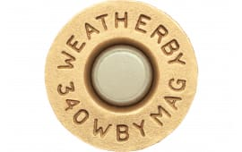 Weatherby BRASS340 Unprimed Brass 340 Weatherby Magnum Lightweight 20 Per Box