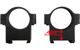"CZ 40010 Alum Scope Rings 1"" CZ550/557 LOW Matte"
