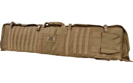 "NCStar CVSM2913T Deluxe Rifle Case/Shooting Mat Gun Case/Drag Mat 48"" x 11"" x 1.75"" Tan"