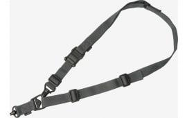 "Magpul MAG515-GRY MS3 Single QD Sling GEN2 1.25"" Nylon Webbing Gray Adjustable"