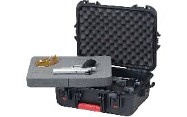 Plano 108021 All Weather Pistol/Accessory Hard Case Plastic Black w/Latches