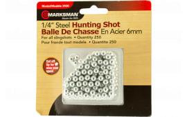 """Marksman 3100 Slingshot Steel Shot 1/4"""" 250 Pack"""