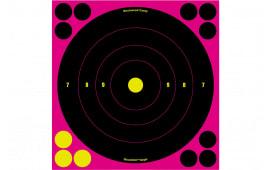Birchwood Casey 34808 Shoot-N-C Pink Bull''s-Eye 6 Targets/72 Paster