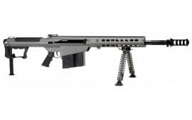 "Barrett 14552 M107A1 Semi-Auto .50 BMG 20"" 10+1 Fixed Metal Gray Stock Gray Cerakote/Black Parkerized"