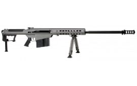 "Barrett 14553 M107A1 Semi-Auto .50 BMG 29"" 10+1 Fixed Metal Gray Stock Gray Cerakote/Black Parkerized"