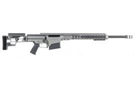 "Barrett 14386 MRAD Bolt .338 Lapua Mag 24"" 10+1 Folding Gray Stock Gray Cerakote/Black"