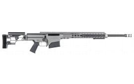 """Barrett 15472 MRAD Bolt 7mm Rem . Magnum 24"""" 10+1 Folding Gray Stock Gray Cerakote/Black"""