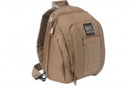 "Bulldog BDT408T Sling Pack Backpack Nylon 14"" x 10"" x 7"" Tan Small"
