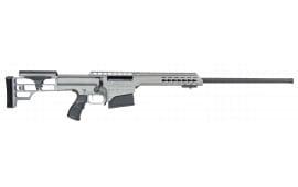 "Barrett 4812 M98B .338 Lapua . Magnum 24"" 10+1 Fixed Metal Gray Stock Gray Cerakote"