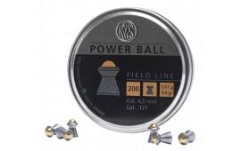RWS 2317414 Power Ball Pellets .177 Pellet Steel/Lead 200