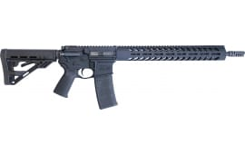"Luxus Arms (HM DEFENSE) HM15F-MB-556-L Defender M5L 16.00"" 30+1 Black Hardcoat Anodized Black Mil-Spec HM Stock"