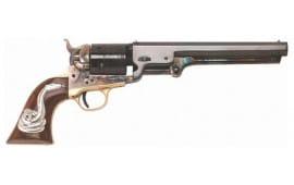 Cimarron CA9081SSI01 Uberti 1851 MAN With NO Name 38 SPL w/ Snake Revolver