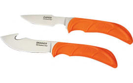 "Outdoor Edge WR1C Wild Pair Knife Set 2.5""-4.0"" 420J Stainless Japanese Gut Hook/Caping Polymer Orange"
