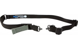 """Blue Force Gear VCAS2TO1RED Vickers 221 Adjustable x 1.25"""" Included Red Swivel Cordura Black"""