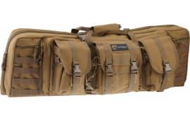 """Drago Gear 12-301TN Double Gun Case 37"""" x 14"""" x 12.5"""" Exterior 600D Polyester Tan"""