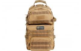 """Drago Gear 14302TN Assault Backpack 600D Polyester 20"""" x 15"""" x 13"""" Tan"""