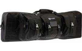 """Drago Gear 12-302BL Single Gun Case 37"""" x 14"""" x 10"""" Exterior 600D Polyester Black"""