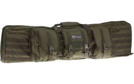 """Drago Gear 12303 GR Single Gun Case 43"""" x 11.5"""" x 10"""" Exterior 600D Polyester Green"""
