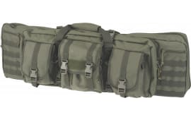 """Drago Gear 12-302GR Single Gun Case 37"""" x 14"""" x 10"""" Exterior 600D Polyester Green"""