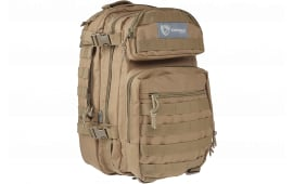 """Drago Gear 14305TN Scout Backpack Tactical 600D Polyester 16""""x10""""x10"""" Tan"""