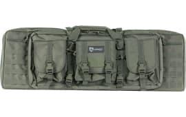 """Drago Gear 12301GY Double Gun Case 37"""" x 14"""" x 12.5"""" Exterior 600D Polyester Gray"""