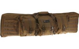 """Drago Gear 12323TN Double Gun Case 43"""" x 14"""" x 13"""" Exterior 600D Polyester Tan"""