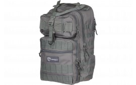 """Drago Gear 14308GY Atlus Sling Backpack Tactical 600D Polyester 19"""" x 11"""" x 10"""" Gray"""