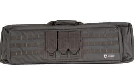 "Drago Gear 12306BL XT Double Gun Case 600D Polyester Black 36.25"" x 11"" x 4.5"" Exterior"