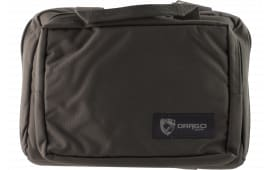 "Drago Gear 12315GY Double Pistol Case 600D Polyester 12.5"" x 9.5"" x 4.5"" Gray"
