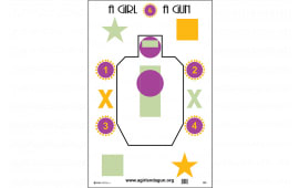 AGG100 GIRL&GUN Club Target 100 BOX