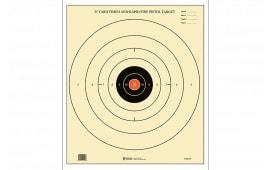B8(P)OC100 Orange Center Paper Target (100 BOX)