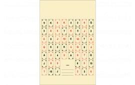 CARD2100 Playing Card 2 Target (100 BOX)