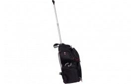 """G*Outdoors 1711ROBP Handgunner Rolling Backpack/Range Bag 600D Polyester 16"""" x 10"""" x 19"""" Black"""