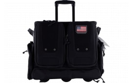 G*Outdoors T2112ROBB Tactical Range Bag Rolling 1000D Nylon Teflon Coating Black
