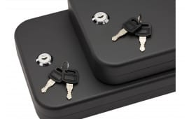 "SnapSafe 75221 Lock Box 2 Pack Keyed Pistol Key Key 11.5"" x 8.5"" x 2.5"" 16GA Steel Black"