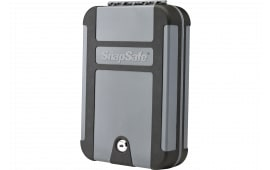 "SnapSafe 75212 TrekLite Lock Box Keylock Personal Safe Key 10"" x 7"" x 2"" Polycarbonate Black/Gray"