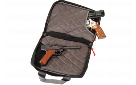 G*Outdoors 1310PC Quad Pistol Case w/Quilted Tricot Lining Nylon Black