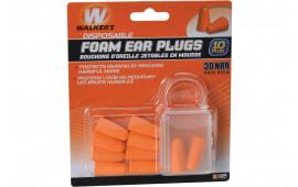 Walkers Game Ear GWPFP5PK Foam Ear Plugs 5 Pair 30 dB Orange