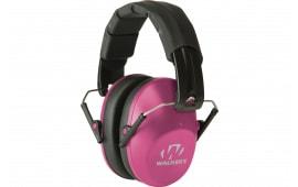 Walkers Game Ear GWPFPM1PNK Pro Low Profile Folding Muff Earmuff 22 dB Pink