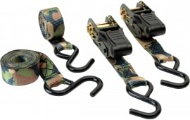 """HME HMERS4PK Camouflage Ratchet Tie Down Strap 1""""x8'' Polyester Camouflage 4 Pac"""