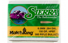 Sierra 1755C MatchKing 6.5mm .264 150 GR Hollow Point Boat Tail 500 Box