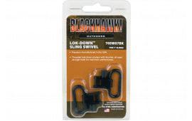 """Blackhawk 70SW07BK Lok-Down Sling Swivel Set 1"""" Blued Steel"""