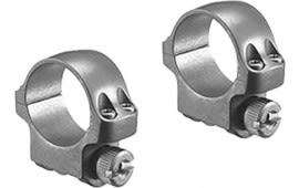 """Ruger 90296 Clam Pack Single Ring Extra High 1"""" Diam Target Gray Stainless"""