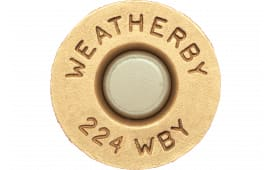 Weatherby BRASS224 Unprimed Brass 224 Weatherby Magnum Lightweight 20 Per Box