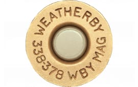 Weatherby BRASS333 Unprimed Brass 338-378 Weatherby Mag Lightweight 20 Per Box