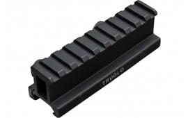TruGlo TG8990B Picatinny Riser Mount For AR-15 Style Black Matte Anodized Finish