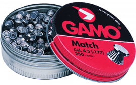Gamo 632002454 Match Flat Nose .177 Lead 250
